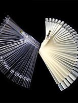 Nail Art Lalic False Fan Wheel Practice board Tip Sticks Nail Art 50pcs Polish / Nail