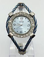 Damen Modeuhr Armbanduhr Chinesisch Quartz Metall Band Armreif Bequem Blau Rosa