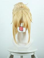 Парики из искусственных волос Без шапочки-основы Короткий Прямые Золотой блондин Парики для косплей Карнавальные парики