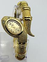 Mujer Reloj de Moda Reloj de Pulsera Chino Digital Metal Banda Brazalete Casual Dorado