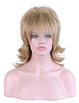 Women Medium Beige Blonde Natural Wave Natural Hairline Synthetic Hair Capless Natural Wig