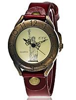 Муж. Модные часы Наручные часы Часы-браслет Уникальный творческий часы Повседневные часы Китайский Кварцевый Кожа Группа Винтаж