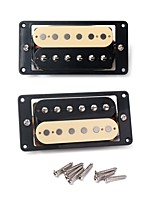 2 X Humbucker Double Coil Electric Guitar Pickups One Black One Cream