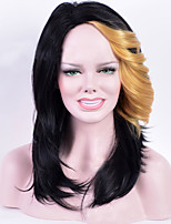 Medium Long Straight Synthetic Wigs  Fashion European and American Character Long Liu Hai Double Color 1B/27# Hot Sale.