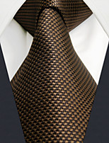 UXL27 Unique Classic Fashion For Men Necktie Tie Extra Long 63 Brown Solid 100% Silk Business