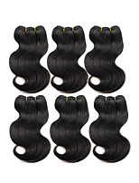 Natural Color Hair Weaves Brazilian Texture Body Wave 6 Months Six-piece Suit hair weaves