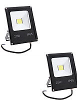 2pcs 20W IP65 Led Flood Light 2000LM Warm/Cool White Waterproof Floodlight for Home AC85-265V