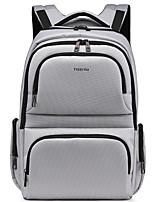 Unisex Backpack Polyester All Seasons Casual Formal Office & Career Baguette Zipper Dark Grey Silver Gray Coffee Red Black 20-30