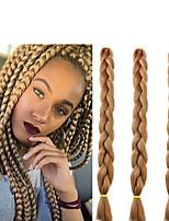 3 штуки синтетический jumbo 3x box оплетка волос расширение 41inch kanekalon вязание крючком 165 г / шт.