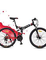 Горный велосипед Складные велосипеды Велоспорт 24 Скорость 24 дюймы Yinxing Дисковый тормоз Передняя вилка с амортизациейСтальная рама
