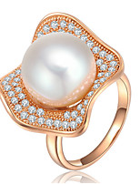 Band Rings Settings Ring Luxury Euramerican Fashion Elegant Noble Flower Pearl Birthday Wedding Movie Gift Jewelry