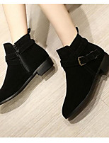 Women's Shoes PU Summer Fall Comfort Boots For Casual Black Brown