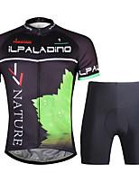 ILPALADINO Maillot et Cuissard de Cyclisme Homme Manches Courtes Vélo Ensemble de Vêtements Séchage rapide zip YKK La peau 3 densités