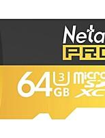 Netac 64g uhs-i u3 tarjeta de memoria del teléfono móvil tf (micro-sd) tarjeta de monitorización de la tarjeta de memoria de la cámara