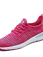 Women's Sneakers Comfort Light Soles Summer Fall Tulle Running Shoes Casual Outdoor Flat Heel Gray Fuchsia Black/Red Orange/Black Flat