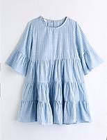 Robe Fille de Décontracté / Quotidien Rayé Coton Eté Manches Courtes