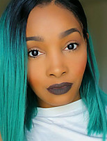 Fashion Black To Green Mixed Color Straight Bob Wig For Afro European Cosplay Synthetic Wigs