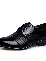 Men's Sneaker Comfort Summer Fall PU Casual Brown Black Flat