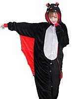 kigurumi Pyjamas Chauve souris Fête / Célébration Pyjamas Animale Halloween Mode Brodée Flanelle Costumes de Cosplay Kigurumi Pour Couple