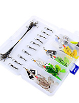Anmuka Plastico Frogs Soft Fishing Lure Set 26Pcs/Box Rubber Bass Spinner Bait Spoon Lures Carp Fishing Tackle