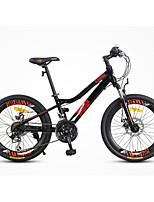 Bicicleta de Montaña Ciclismo 21 Velocidad 20 pulgadas Shimano Doble Disco de Freno Horquilla de suspención Cuadro de Aleación de Aluminio