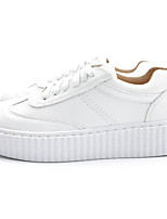 Women's Sneakers Comfort Spring Fall Synthetic Microfiber PU Casual Blushing Pink Black White Flat