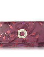 Women Checkbook Wallet Cowhide All Seasons Daily Casual Rectangle Magnetic Purple