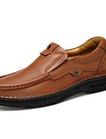 Homme Mocassins et Chaussons+D6148 Confort Semelles Légères Chaussures formelles Chaussures de plongée Vrai cuir Cuir Nappa CuirPrintemps