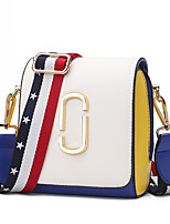 Women Bags All Seasons PU Shoulder Bag with for Event/Party Casual Formal Outdoor Office & Career White Black Red
