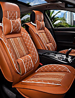 The New Car Seat Cushion Leather Seat Cover Four Seasons General Ice Surrounded By Five Family Car Seat Orange