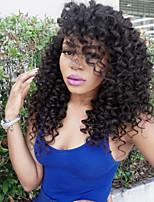 Vente chaude de vêtements malaisiens vierges cheveux lâches bouclés devant perruques de cheveux humains pour femmes noires cheveux