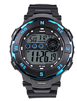Men's Kid's Digital Watch Digital Rubber Band Black