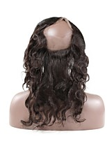 360 Lace Frontal Closure Brazilian Body Wave Remy Hair Natural Hairline With Baby Hair 100% Human Hair