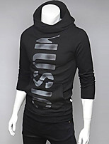 Men's Going out Casual/Daily Street chic Hoodie Letter Hooded Micro-elastic Cotton Polyester Long Sleeve Fall Winter