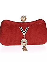 L.west Women's fashion pearl set auger tassel evening bag Hand bag