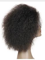Mujer Pelucas de Cabello Natural Remy Encaje Frontal Frontal sin Pegamento 130% Densidad Peluca Negro Negro Corto Medio Largo Caligrafía