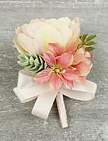 Wedding Flowers Grace Tulips Boutonnieres Wedding / Special Occasion Satin / Fabric Corsage for The Bridegroom