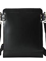 Men Bags All Seasons Cowhide Shoulder Bag with for Casual Office & Career Black