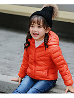 Girls' Stripe Stripes Solid Down & Cotton Padded,Cotton Bamboo Fiber Winter Long Sleeve