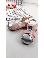 Girls' Sandals Light Soles Summer Leatherette Casual Flat Heel Blushing Pink Under 1in