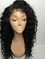 Premier®8A 8-26inch Glueless Lace Front Wigs Curly Natural Black Color Brazilian Human Hair Lace Wigs For Women