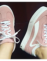 Women's Sneakers Comfort Spring PU Casual Blushing Pink Gray Black Under 1in