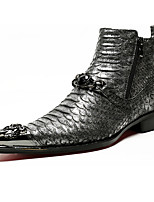 Men's Oxfords Comfort Novelty Fashion Boots Bootie Fall Winter Nappa Leather Wedding Office & Career Party & Evening Rivet Sparkling