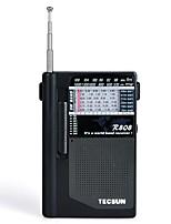 R-808 Radio portatil Radio FM Altavoz incorporado Gris