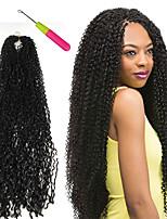 Afro Kinky плетенки Вязаные Афро Кудрявое плетение 100% волосы канекалона KanekalonПепел коричневый Средний Golden Brown Клубничный