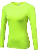 Per donna Manica lunga Traspirabilità Leggero Elastico T-shirt Felpa Top per Corsa Ciclismo Esercizi di fitness Attività ricreative