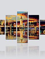 Tela de impressão 5 Painéis Tela Estampado Decoração de Parede For Decoração para casa