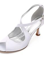 Mujer Zapatos de boda Confort Mary Jane D'Orsay y Dos Piezas Pump Básico Satén Primavera Verano Boda Vestido Fiesta y NochePedrería