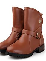 Damen Schuhe PU Sommer Komfort Stiefel Für Normal Schwarz Beige Braun