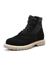 Для мужчин Ботинки Модная обувь Армейские ботинки Осень Зима Замша На плоской подошве Черный На плоской подошве